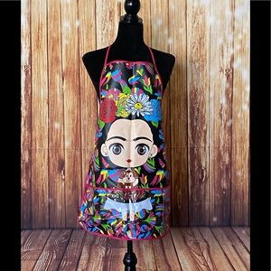 Women's Mexican Plastic Apron Frida Kahlo One Size